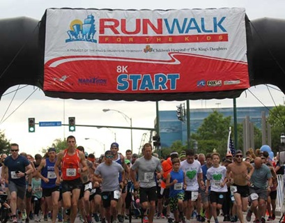 Starting line of a charity run/walk 5K
